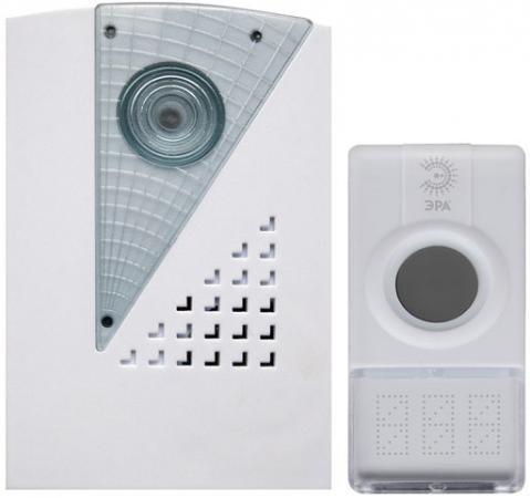 Звонок дверной беспроводной Эра C41 белый светодиодный беспроводной перезвон дверной звонок дверной звонок