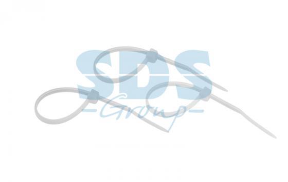 Хомут nylon 100 x 2,5 мм 25шт белый  REXANT