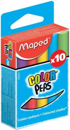 Набор мелков Maped COLOR PEPS 10 штук 10 цветов от 4 лет карандаши цветные maped color peps в металлическом футляре 12 цветов