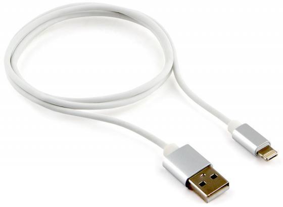 Кабель Lightning 1м Cablexpert круглый + microUSB CC-USB2-APmB-1MW кабель usb 2 0 cablexpert am microbm 5p 1м золотой металлик cc musbgd1m