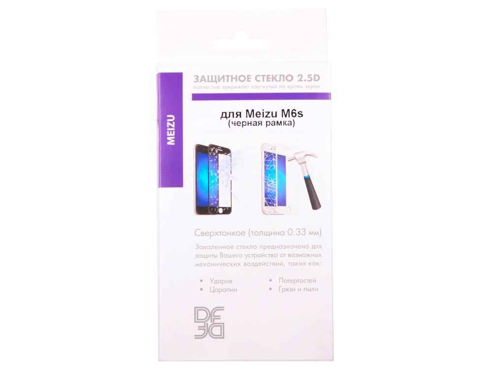 Закаленное стекло с цветной рамкой (fullscreen) для Meizu M6s DF mzColor-19 (black) цена и фото