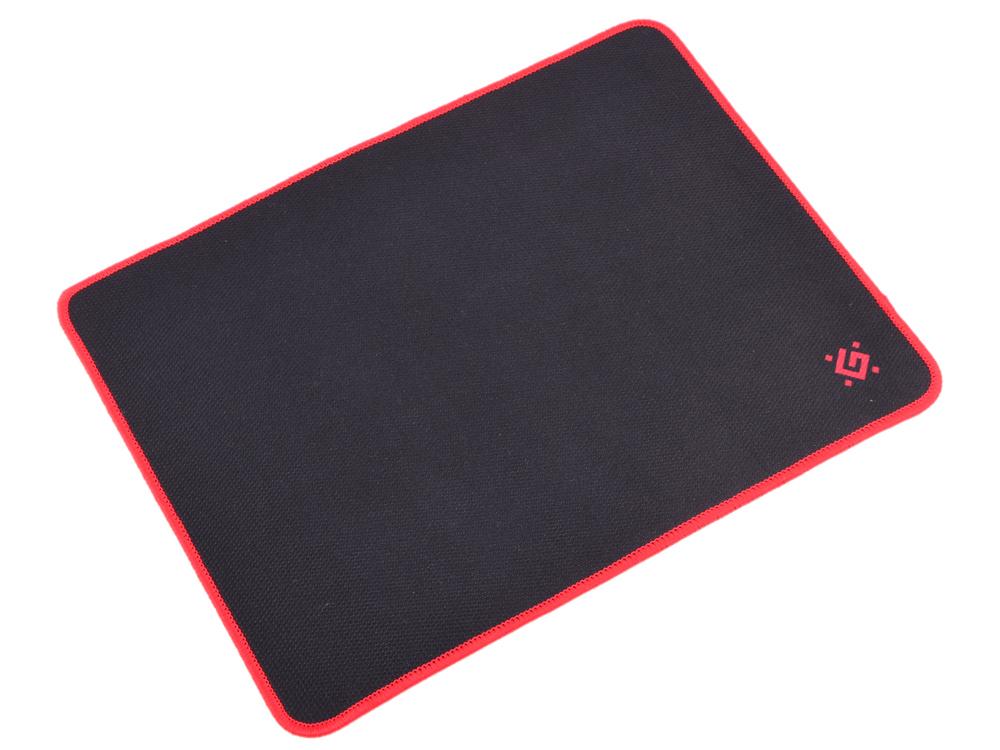 Коврик игровой defender black m 360x270x3 мм, ткань+резина