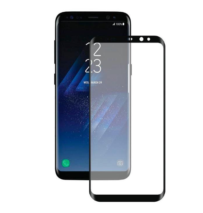 Защитное стекло Deppa 3D для Samsung Galaxy S8 Plus, 0.3 мм, черное (63351) цена