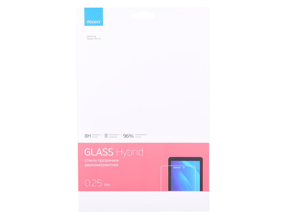 Защитное стекло Deppa Hybrid для Samsung Galaxy Tab S3, прозрачное (62380) аксессуар защитное стекло для samsung gear s3 red line ут000010392