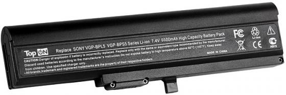 Аккумулятор для ноутбука Sony Vaio VGN-TX Series 6600мАч 7.4V TopON TOP-BPL5 49Wh цена