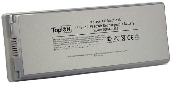 Аккумулятор для ноутбука Apple MacBook Pro 13 5600мАч 10.8V TopON TOP-AP1185 60Wh, усиленный аксессуар аккумулятор tempo a1245 7 4v 5200mah для apple macbook air 13 a1237 a1304 mb940lla