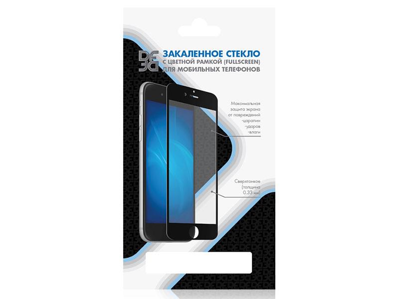 Закаленное стекло с цветной рамкой (fullscreen) для Meizu M8/M8 Lite DF mzColor-28 (black) закаленное стекло с цветной рамкой fullscreen для meizu 15 plus df mzcolor 21 black