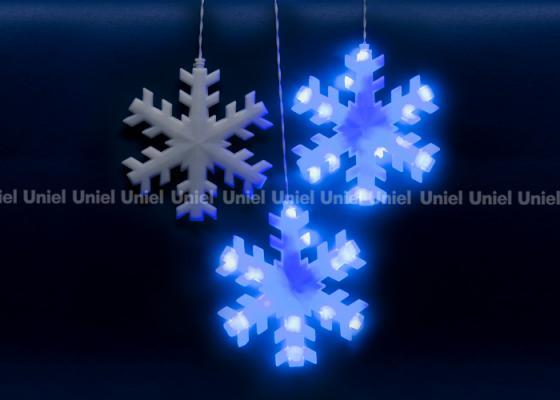 Фото - Занавес светодиодный «Снежинки» 270см синий (11128) ULD-E2703-120/DTA BLUE IP20 SNOWFLAKES cветильник галогенный de fran встраиваемый 1х50вт mr16 ip20 зел античное золото