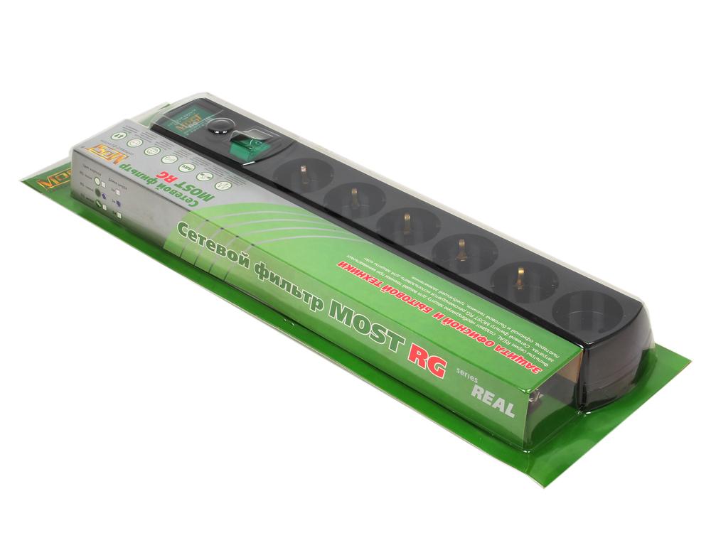 Сетевой фильтр Most RG-U 3м черный 6 розеток