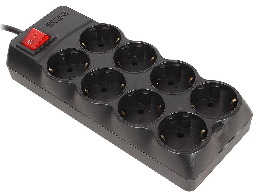 Сетевой фильтр Sven Optima Pro 3,1 м (8 розеток) черный сетевой фильтр sven sv 013677 8 розеток 1 8м черный sv 013677