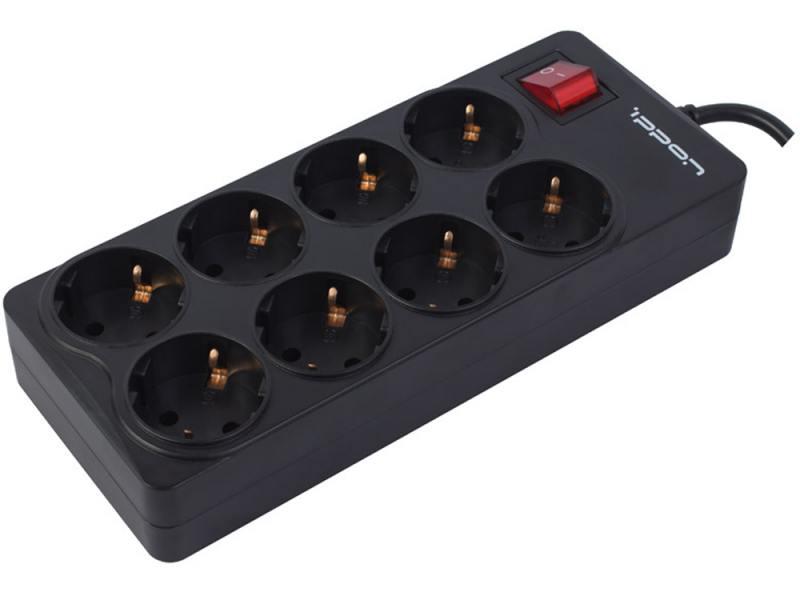 Сетевой фильтр Ippon BK-258 8 розеток 5 м черный
