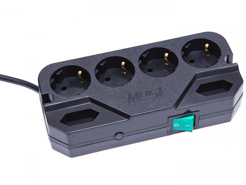 где купить Сетевой фильтр MOST Compact СRG 6 розеток 5 м черный по лучшей цене
