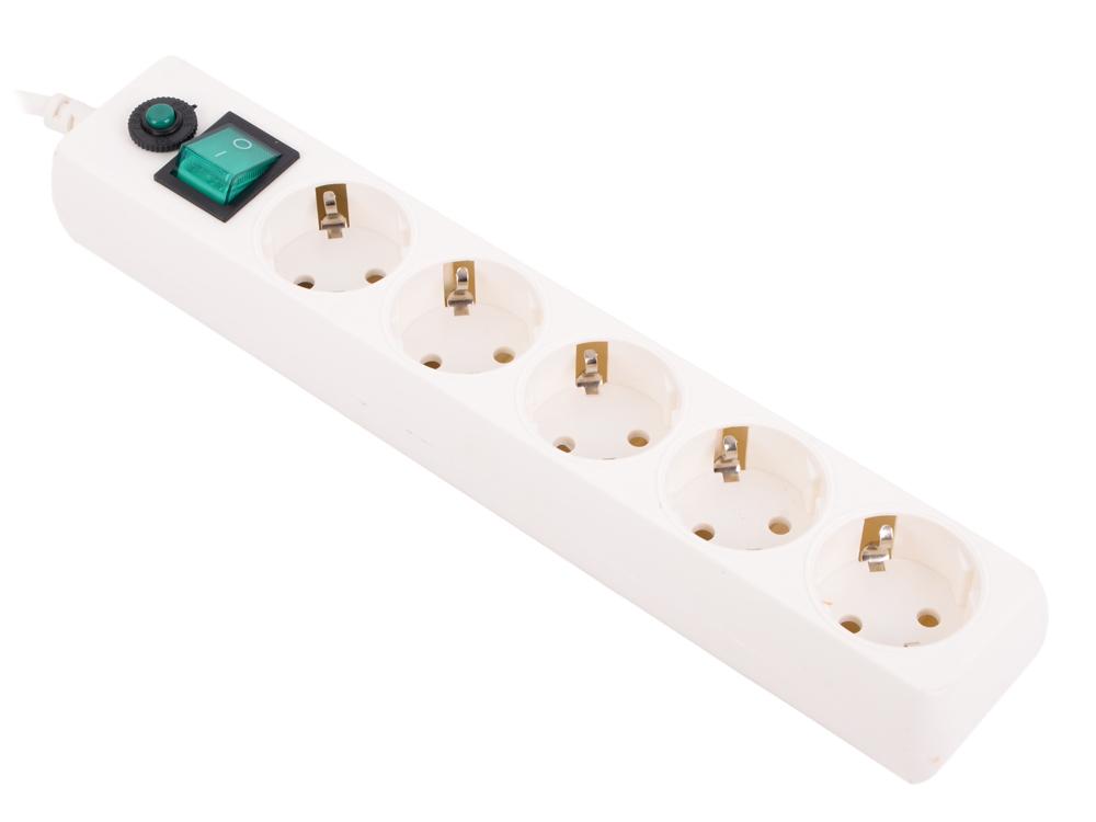 Сетевой фильтр Гарнизон ЕНLW-5 5 розеток 1.4 м белый