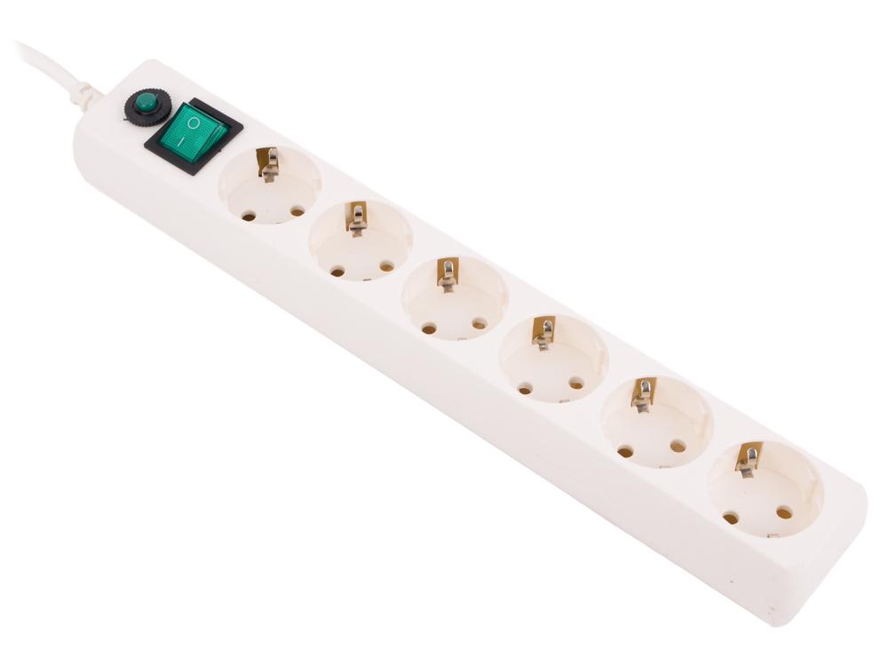 Сетевой фильтр Гарнизон EHW-10 6 розеток 3 м белый