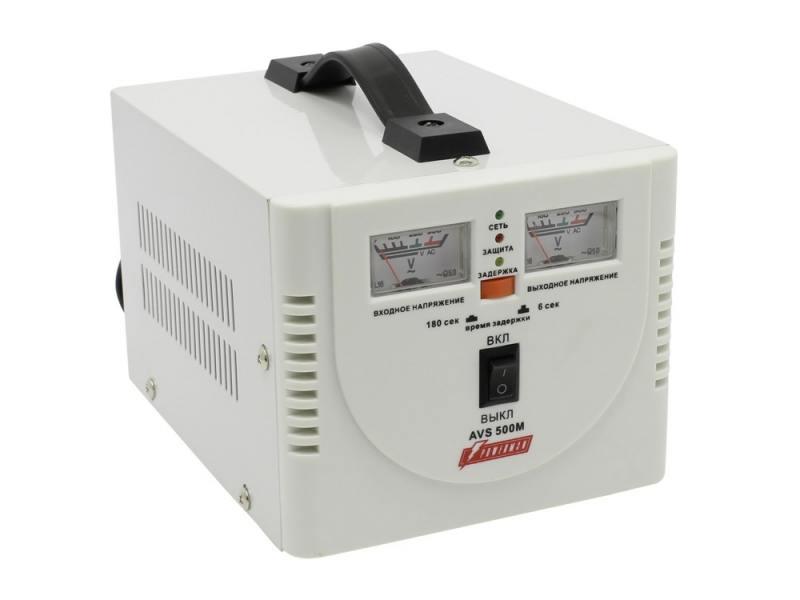 Стабилизатор напряжения Powerman AVS 500M 2 розетки белый lomon черный 500m