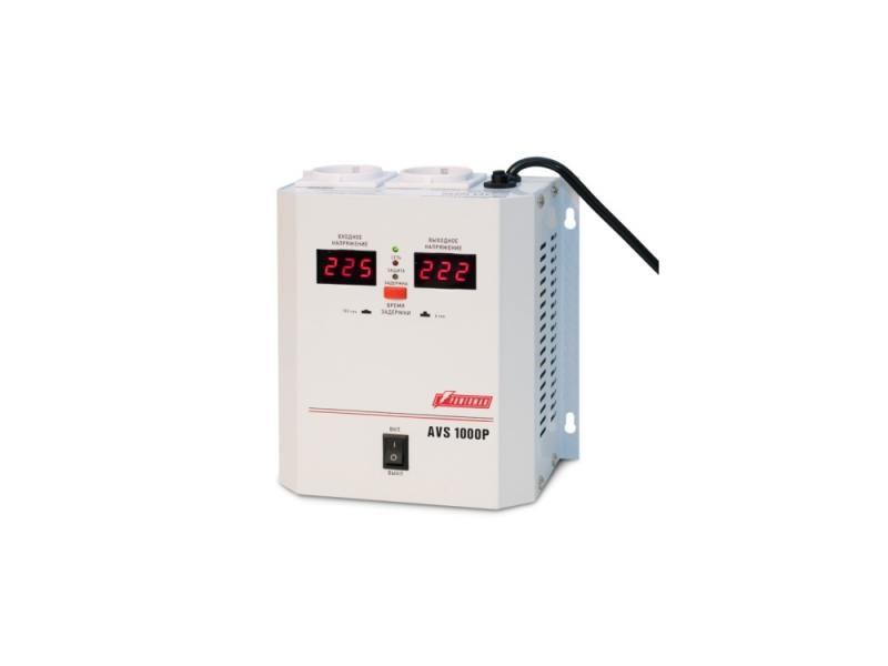 Стабилизатор напряжения Powerman AVS-1000P 1000VA белый стабилизатор напряжения powerman avs 20000d белый