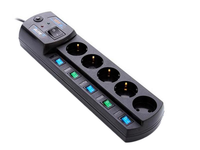 Сетевой фильтр MOST Elite EHV 5 розеток 5 м черный сетевой фильтр most ehv 2м белый