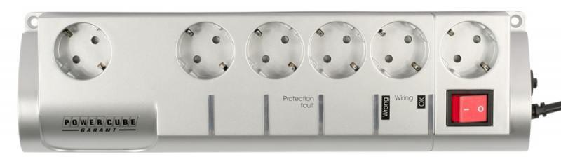 Сетевой фильтр Power Cube SIS-2-10 Garant 6 розеток 3 м белый сетевой фильтр power cube garant 5 1 socket 3m grey sis 2 10