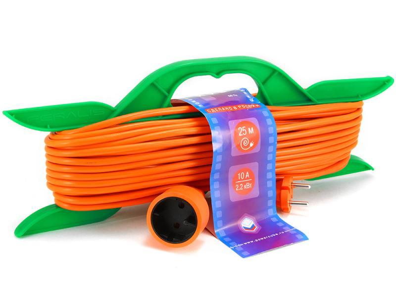 Удлинитель Power Cube PC L1 R25 1 розетка 25 м оранжевый мастер кит power cube fb0025 розетка с usb white