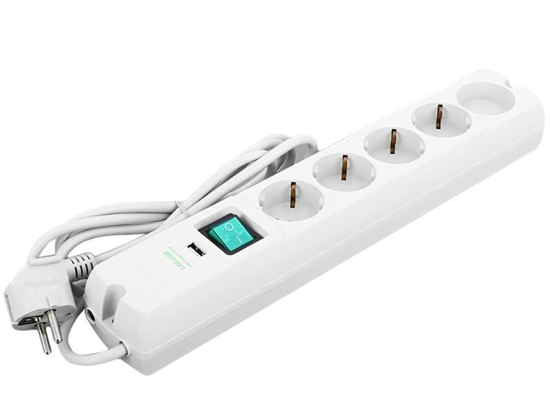 Сетевой фильтр MOST Lite LRG-USB 5 розеток 1.7 м белый