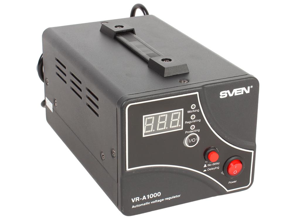 Стабилизатор напряжения SVEN VR-A 1000 стабилизатор напряжения sven vr v1000