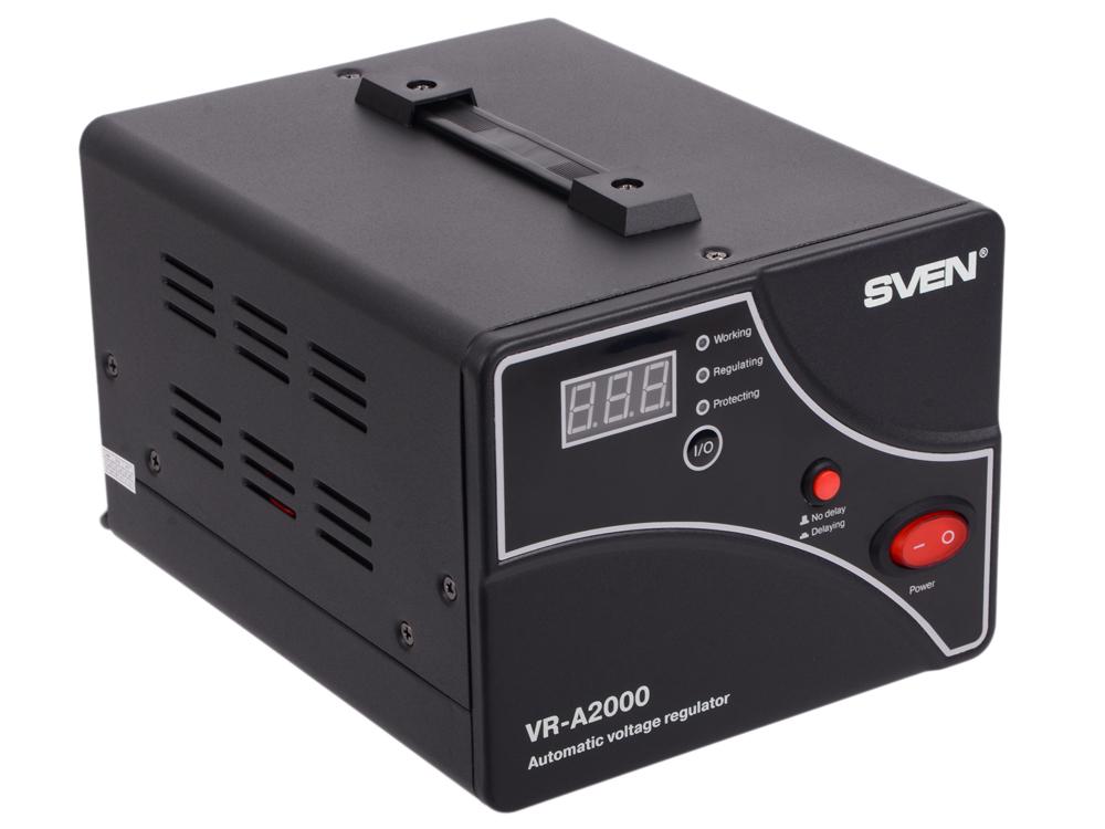 Стабилизатор напряжения SVEN VR-A 2000 стабилизатор sven vr a5000 sv 014896