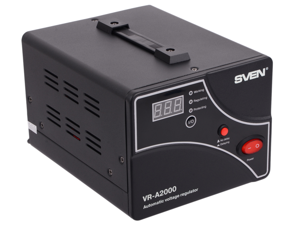 Стабилизатор напряжения SVEN VR-A 2000 стабилизатор напряжения sven avr slim 500 lcd white