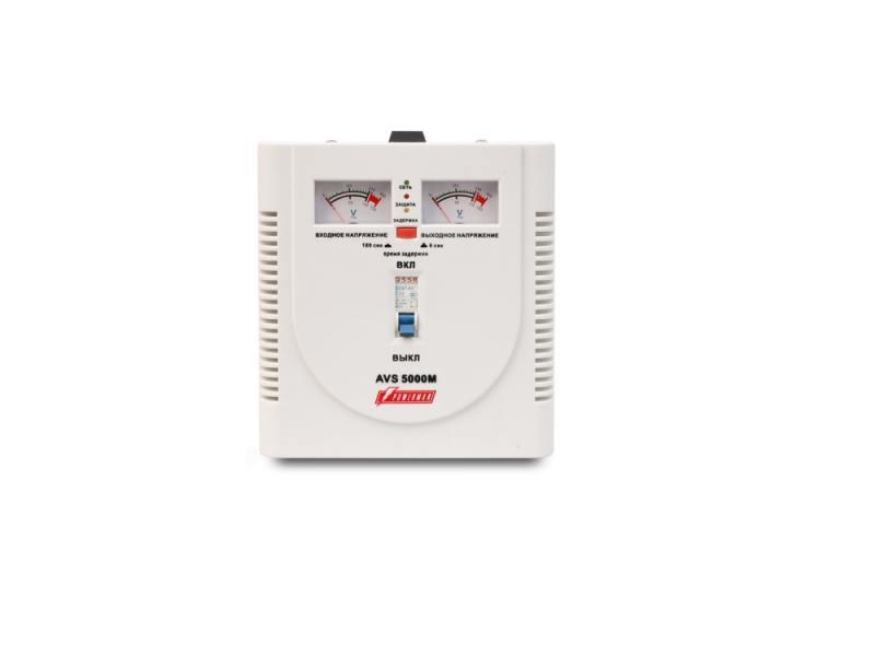 Стабилизатор напряжения Powerman AVS-5000M 5000VA белый стабилизатор напряжения powerman avs 15000d белый