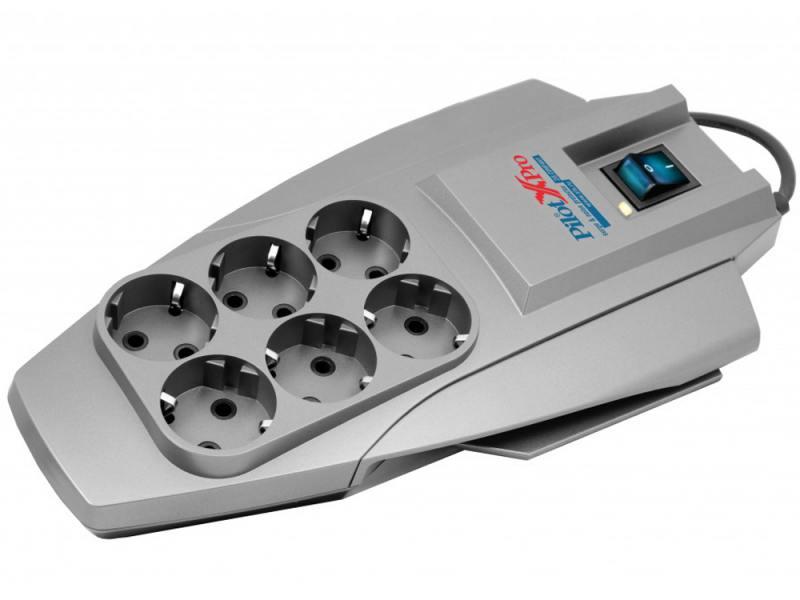 Сетевой фильтр ZIS Pilot X-Pro 6 розеток 5 м серый