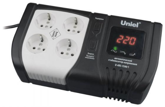 Стабилизатор напряжения Uniel Expert (09623) 1500ВА U-ARS-1500/1 стабилизатор напряжения uniel expert 09622 1000ва u ars 1000 1