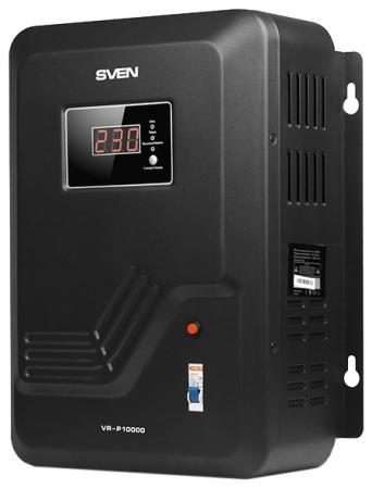Стабилизатор напряжения Sven VR-P10000 черный стабилизатор напряжения sven avr slim 1000