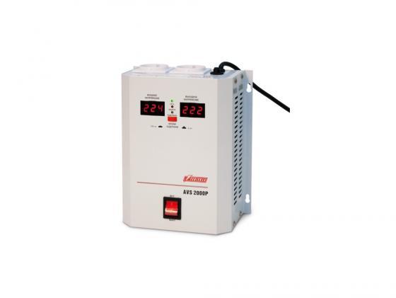 Стабилизатор напряжения Powerman AVS-2000P 2000VA белый