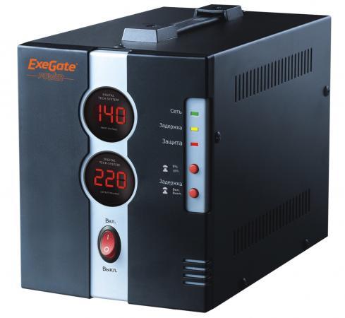 Стабилизатор напряжения Exegate DCR-500D 1 розетка черный EP259015RUS стабилизатор exegate power rp 500 259013