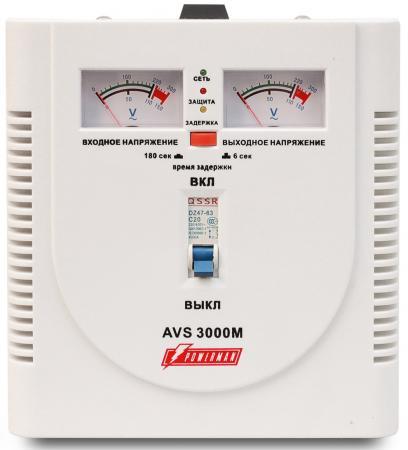 Стабилизатор напряжения Powerman AVS-3000M 3000VA белый ибп стабилизатор powerman avs 2000m