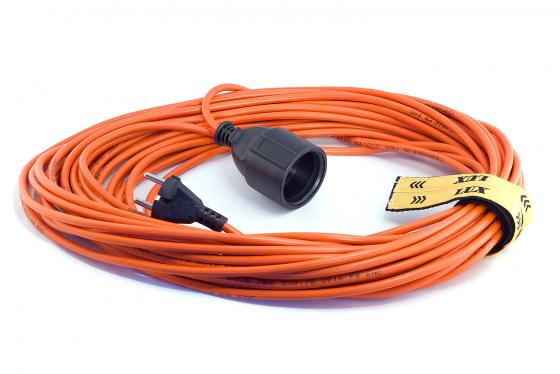Удлинитель вилка-розетка LUX УС1-О-20 (У-101) ПВС 20м 2х0.75мм, 6А (15)