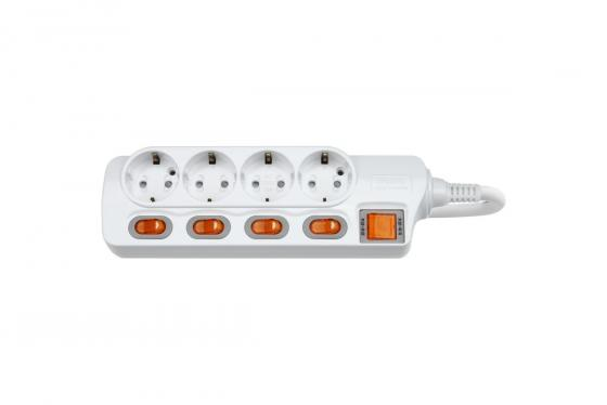 Сетевой фильтр DAESUNG MC2345 5м 16а .2кВт 3х1.5мм2  розетки  заземлением(20)