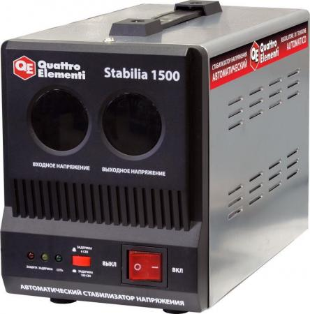 Стабилизатор QE Stabilia 1500 однофазный, цифровой 220В 1500ВА вх.:140-270В нагреватель воздуха газовый quattro elementi qe 10g 911 536
