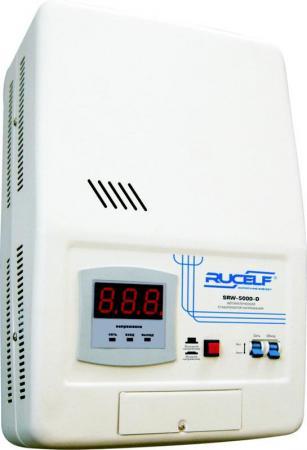 Стабилизатор RUCELF SRW-5000-D однофазный, цифровой 220В 5000ВА вх.:140-260В НАСТЕННЫЙ стабилизатор напряжения rucelf котел 400 00 00001317 однофазный релейный навесной 400вт