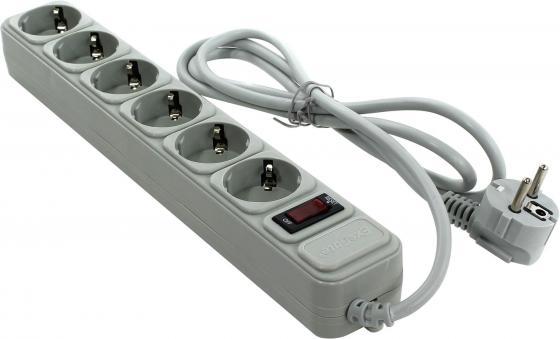 Сетевой фильтр Exegate SP-6-1.8G  розеток . м серый EX119388RUS