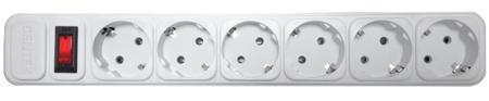 Сетевой фильтр Centek СТ-8901-6-1,8 White