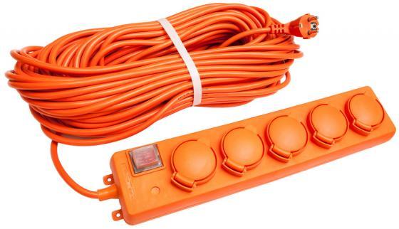 Удлинитель UNIVersal У10-026 IP-44 ПВС 3*1,5 5гнезд 10м с заземлением, выключатель с индикацией удлинитель universal у10 027 на катушке с термовыключателем с заземлением 1 гнездо 30 м