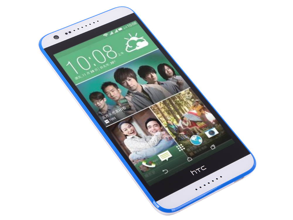 Смартфон HTC Desire 620G dual sim Gloss White/Blue Trim