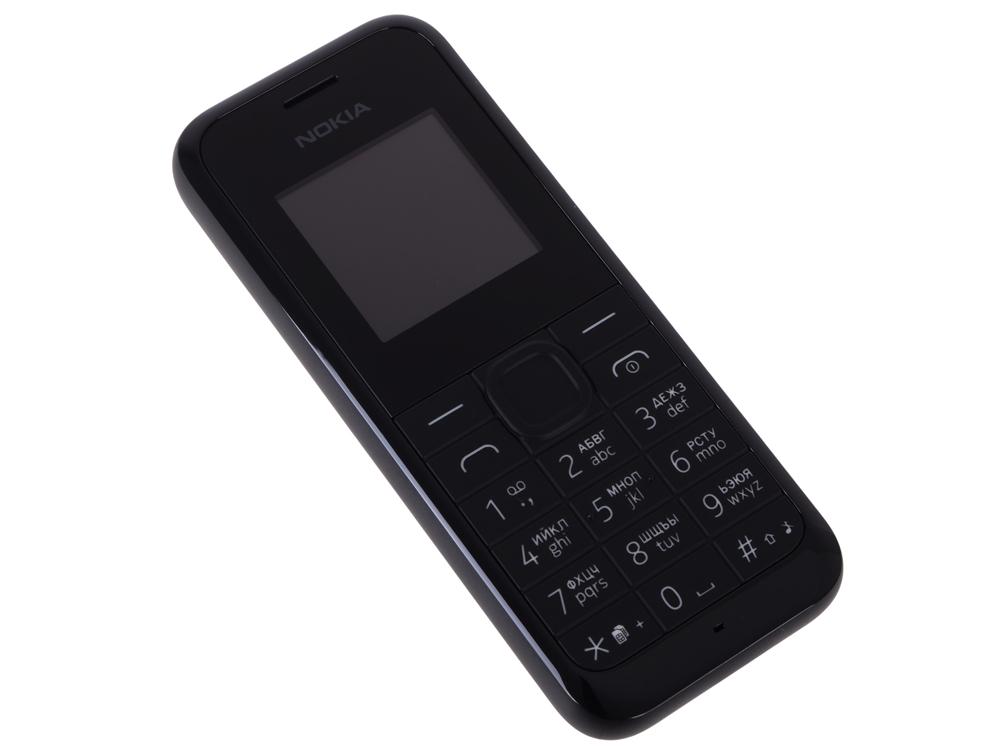 Мобильный телефон Nokia 105 DS Black 2Sim/1.4 128x128/384KB RAM/4MB/2G/800mAh
