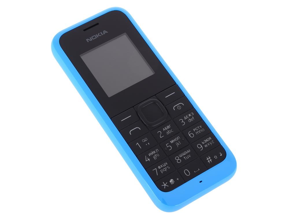 Мобильный телефон Nokia 105 DS Cyan 2Sim/1.4'' 128x128/384KB RAM/4MB/2G/800mAh