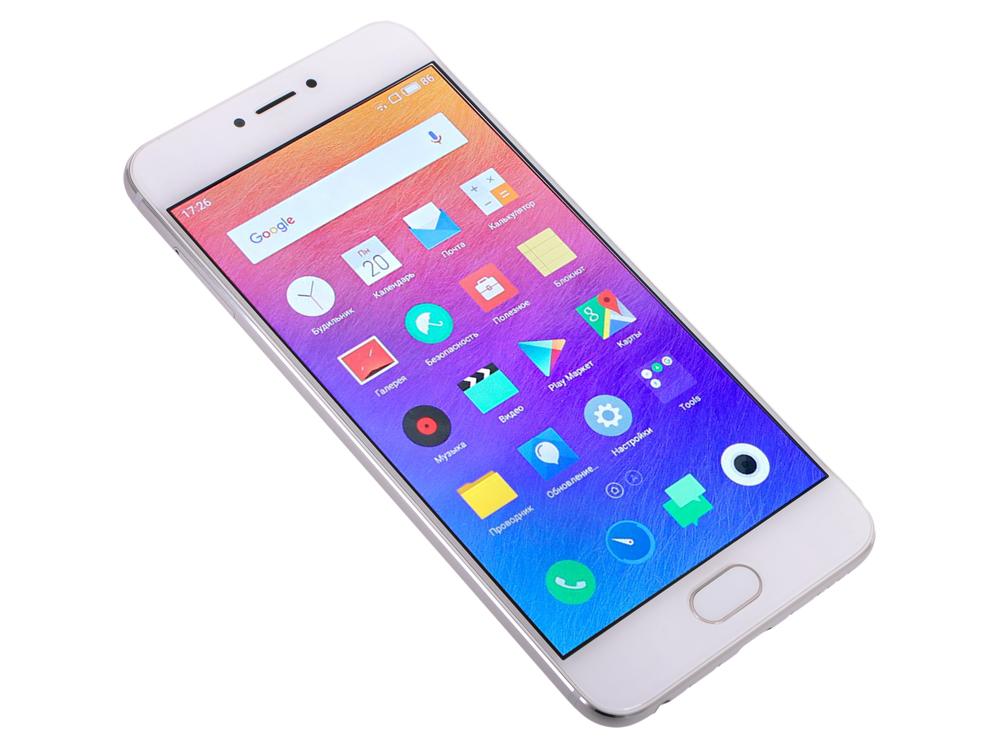 Смартфон Meizu Pro 6 белый серебристый 5.2 32 Гб LTE Wi-Fi GPS M570H 32Gb Silver/White смартфон meizu pro 6 lte 32gb gold white