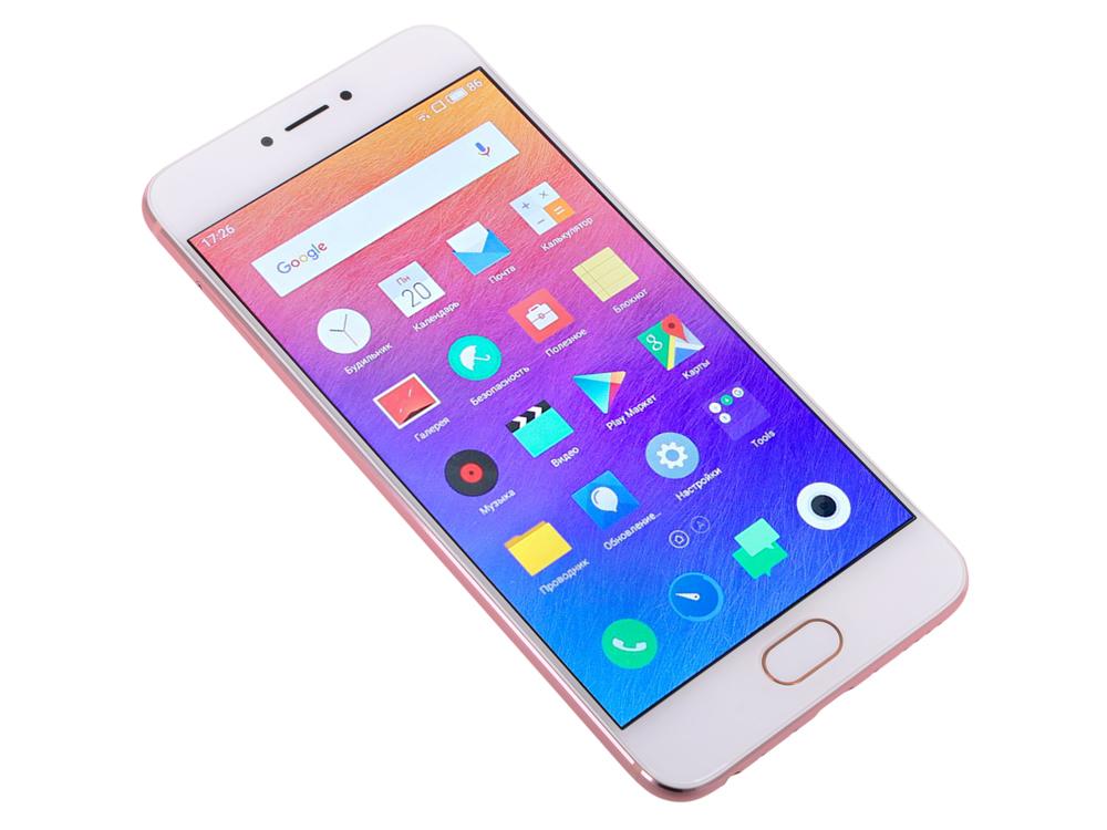 "Смартфон Meizu Pro 6 5.2"" 64 Гб LTE Wi-Fi GPS розовое золото M570H 64Gb Gold"