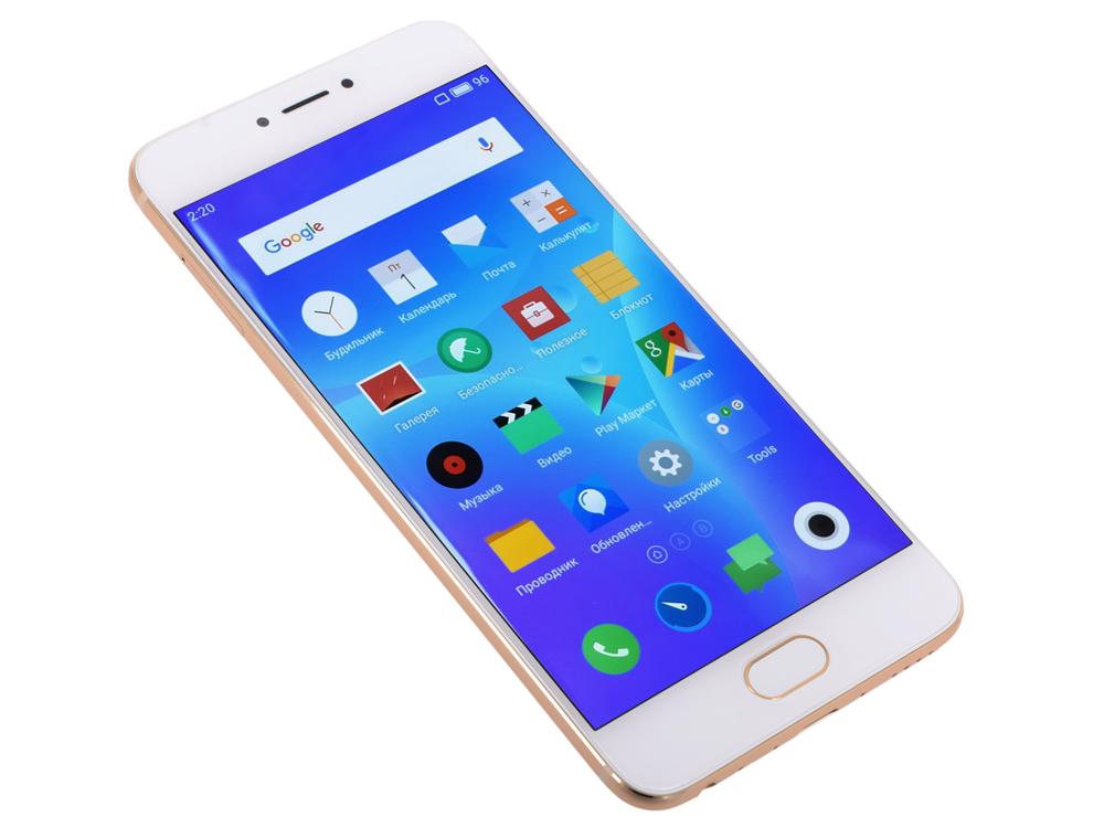 Смартфон Meizu Pro 6  золотой белый 5.2 32 Гб LTE Wi-Fi GPS M570H 32Gb GOLD/WHITE смартфон meizu pro 6 lte 32gb gold white
