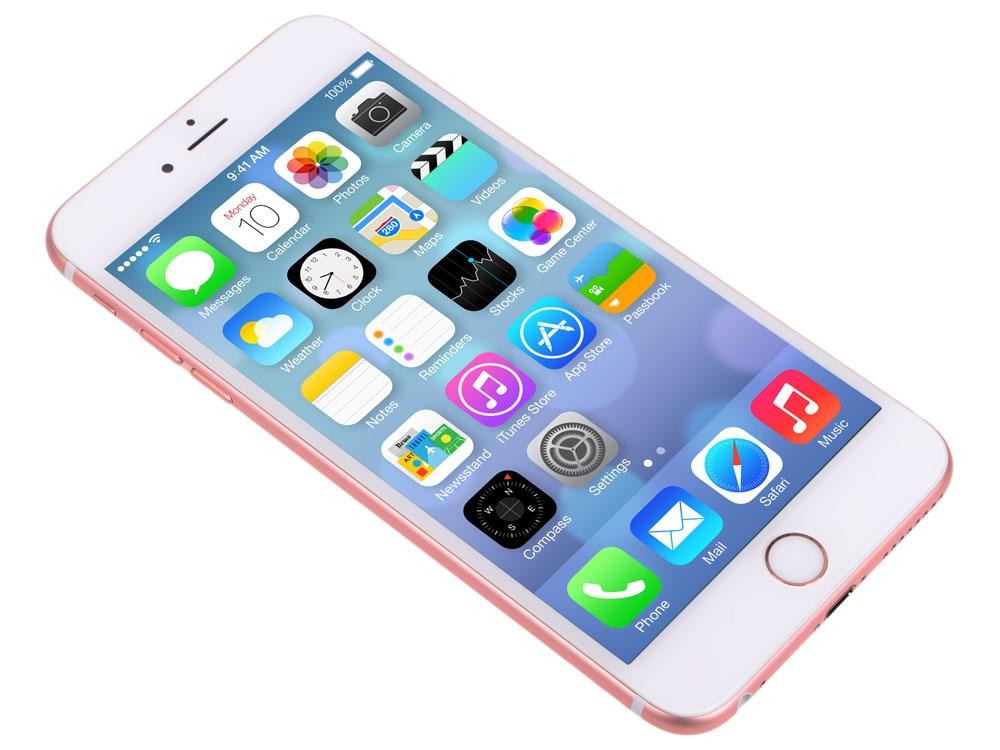 Смартфон Apple iPhone 6S Plus розовое золото 5.5 128 Гб NFC LTE Wi-Fi GPS 3G MKUG2RU/A смартфон asus zenfone live zb501kl золотистый 5 32 гб lte wi fi gps 3g 90ak0072 m00140