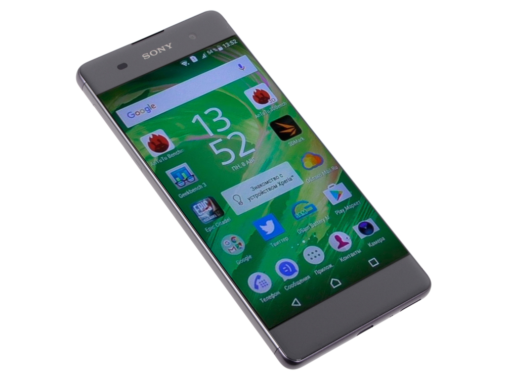 Смартфон SONY Xperia XA (F3111) Graphite Black MediaTek MT6755/2 Гб/16 Гб/5 (1280x720)/3G/4G/BT/Android 6.0 смартфон sony xperia xa1 ultra dual