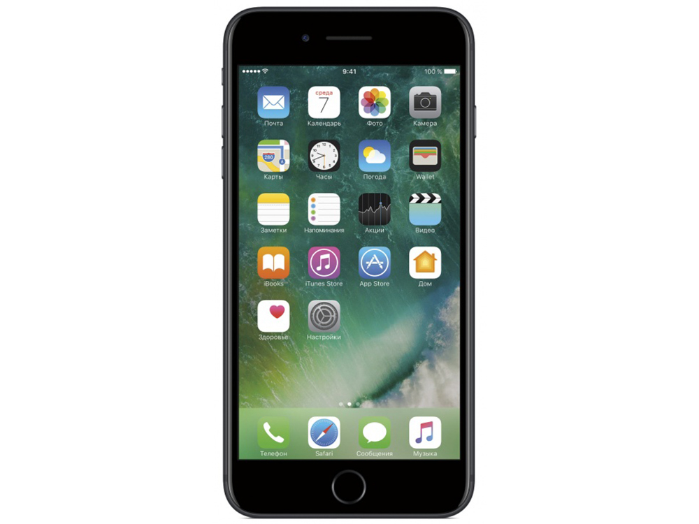 Смартфон Apple iPhone 7 Plus 128Gb черный (MN4M2RU/A) 5.5 (1080x1920) iOS 10 12Mpix WiFi BT смартфон apple iphone 7 plus 128gb черный оникс